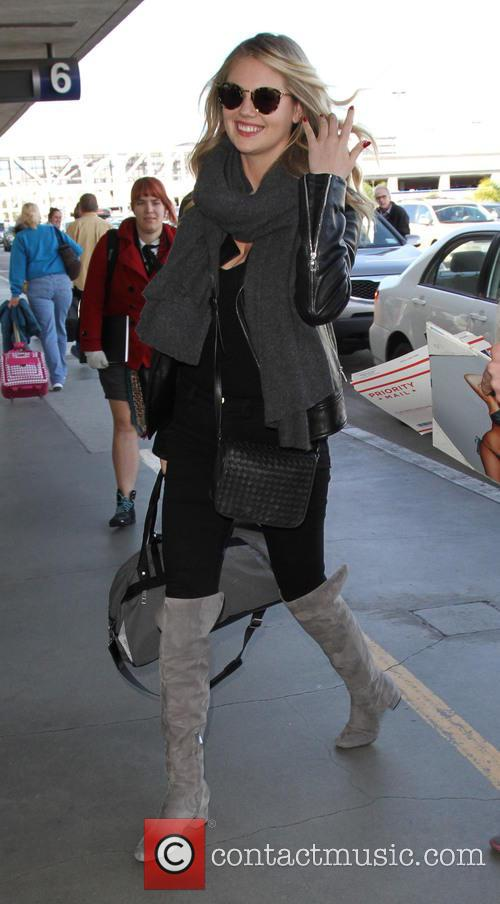 Kate Upton at Los Angeles International Airport