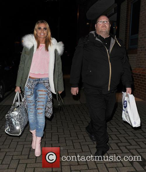 Katie Price leaving the New Victoria Theatre in...