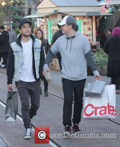 Jesse McCartney does some Christmas shopping at The...