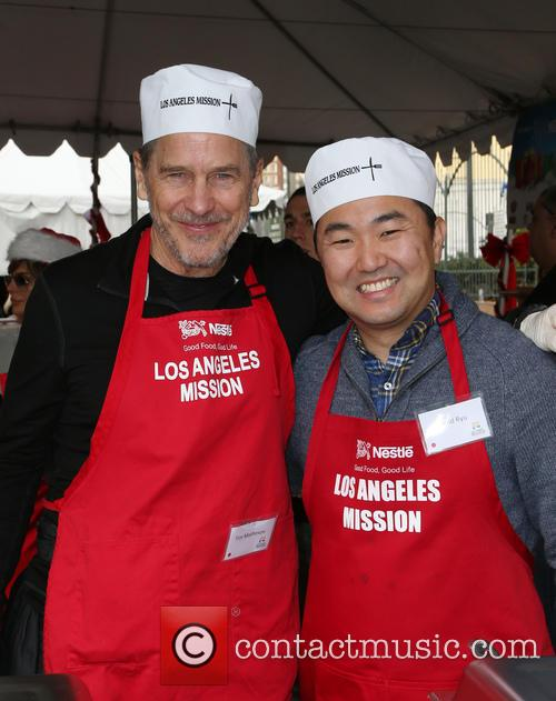 Los Angles Mission Christmas Meal to the Homeless