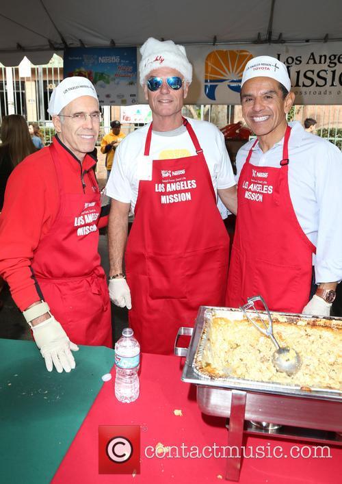 Jeffrey Katzenberg, Harry Hamlin and Antonio Villaraigosa 5