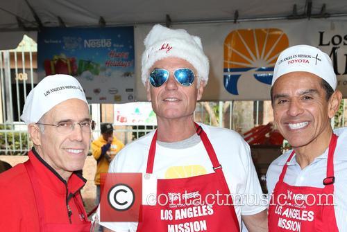 Jeffrey Katzenberg, Harry Hamlin and Antonio Villaraigosa 6