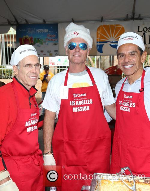 Jeffrey Katzenberg, Harry Hamlin and Antonio Villaraigosa 7