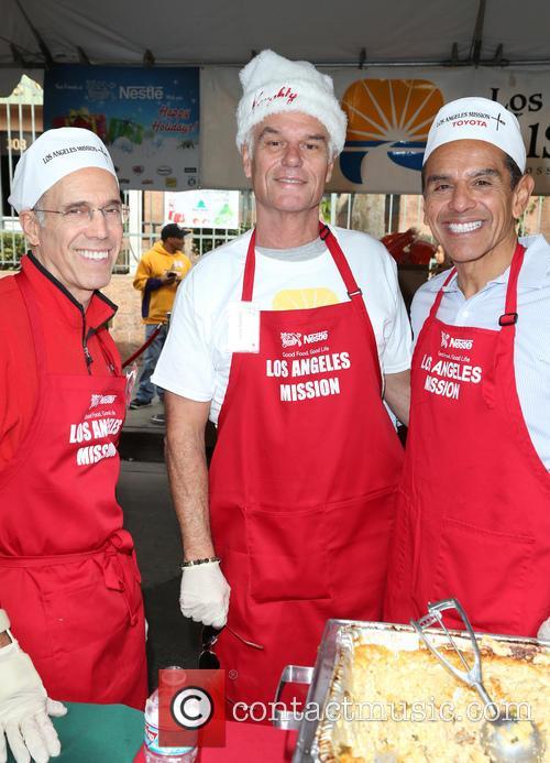 Jeffrey Katzenberg, Harry Hamlin and Antonio Villaraigosa 8
