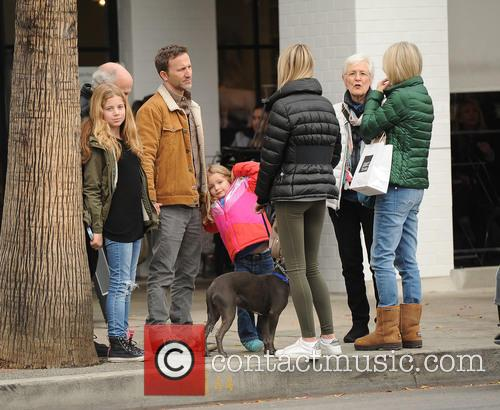 Breckin Meyer, Clover Meyer and Caitlin Willow Meyer 2