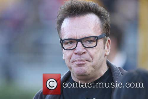 Tom Arnold at the Rose Bowl Game