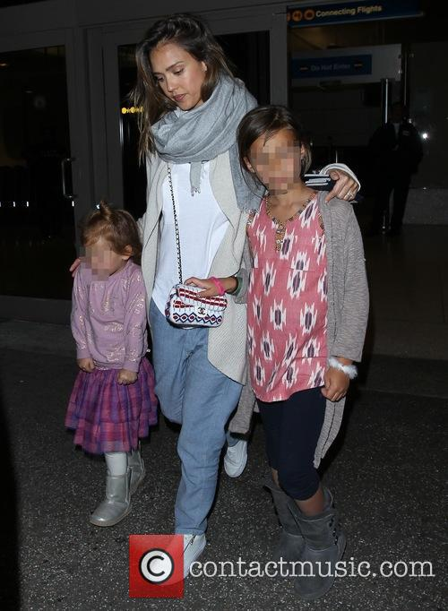 Jessica Alba, Honor Marie Warren and Haven Garner Warren 2