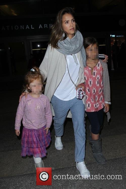 Jessica Alba, Honor Marie Warren and Haven Garner Warren 3