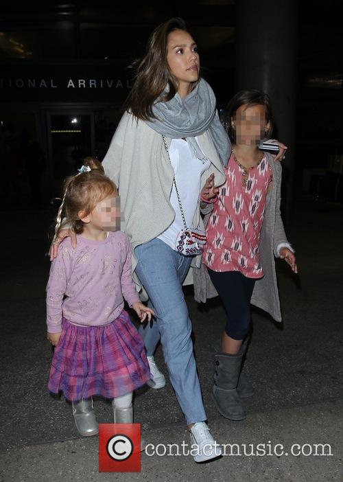 Jessica Alba, Honor Marie Warren and Haven Garner Warren 4