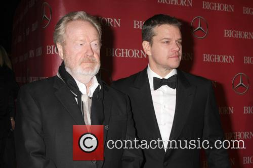 Ridley Scott and Matt Damon 2