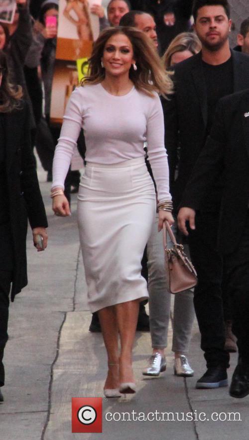 Jennifer Lopez arriving at the ABC studios for...