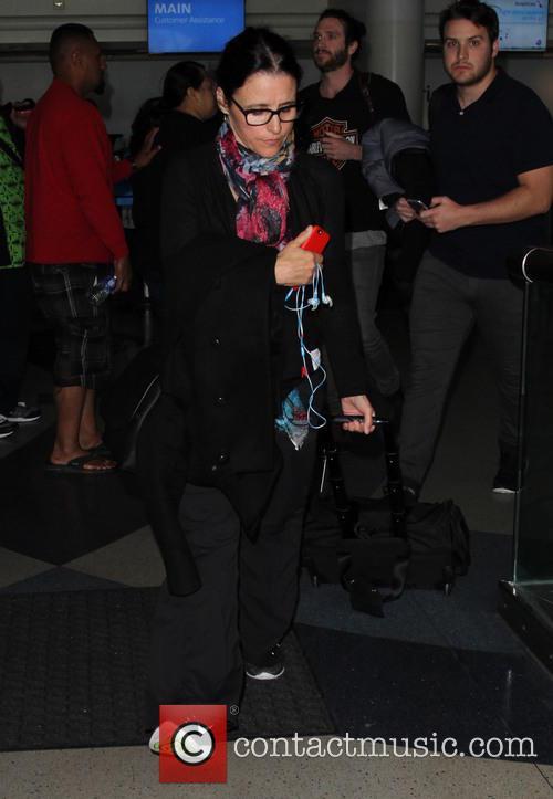 Julia Louis-Dreyfus arrives at Los Angeles International (LAX)...