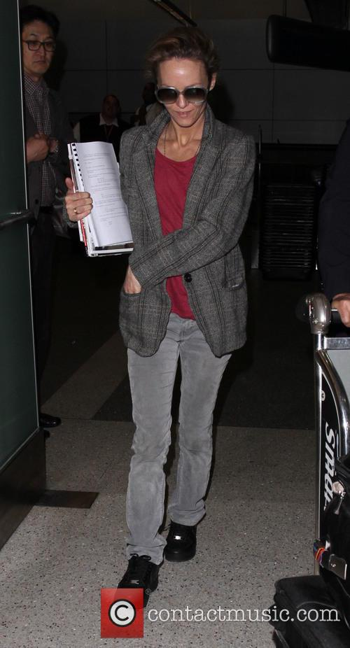 Vanessa Paradis arrives on a flight to Los...