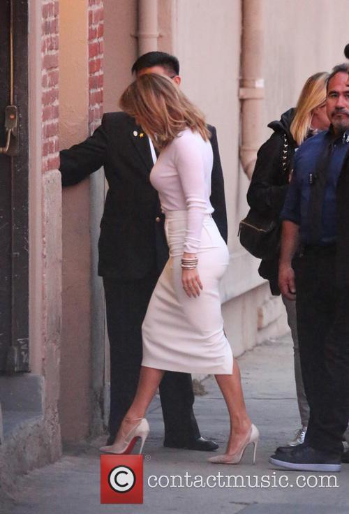 Jennifer Lopez arriving at Jimmy Kimmel Live!