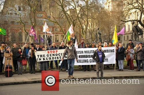 Demonstration against Turkey
