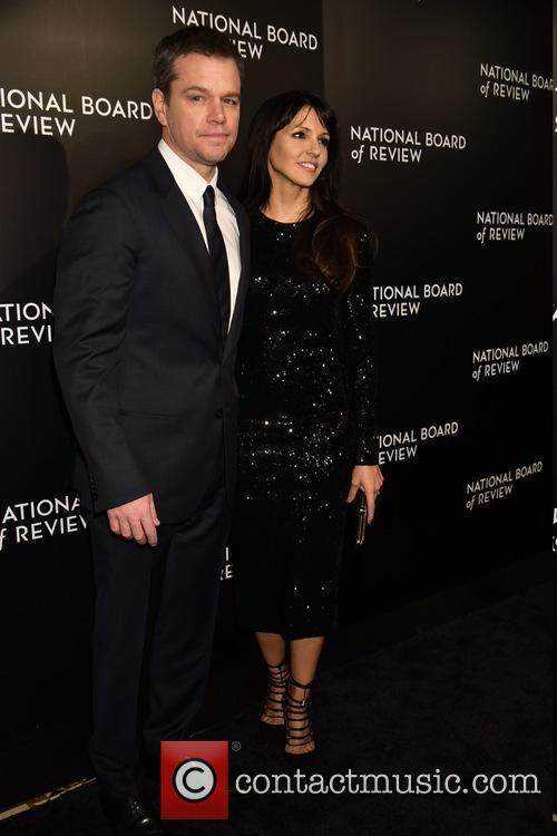 Matt Damon and Luciana 1