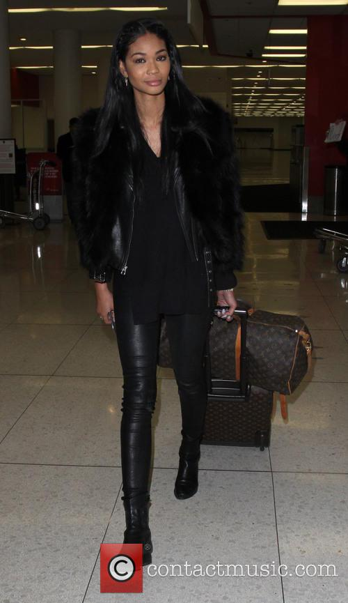 Chanel Iman departs on a flight from Los...