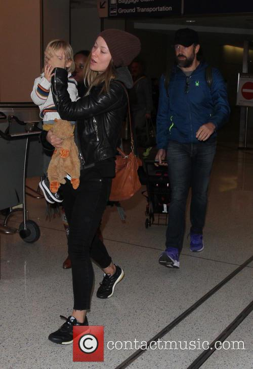 Olivia Wilde arrives on a flight to Los...