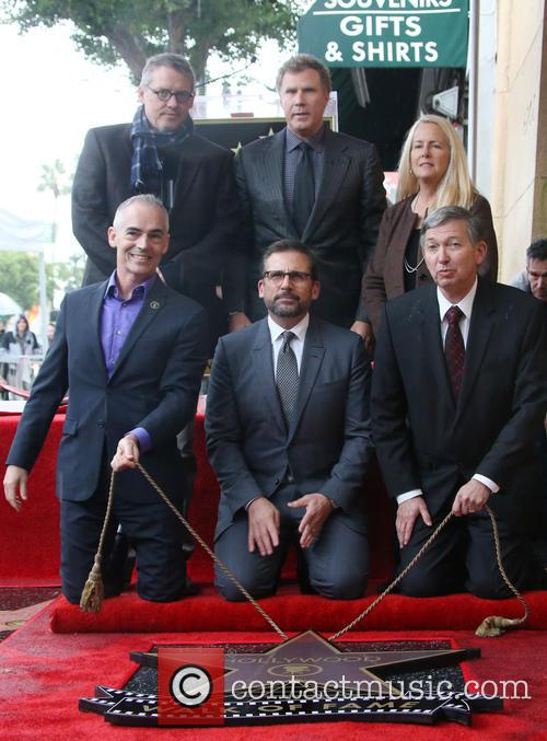 Adam Mckay, Mitch O'farrell, Will Ferrell, Steve Carell and Leron Gubler 5