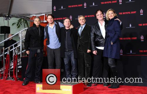Robert Forster, Channing Tatum, Tim Roth, Christoph Waltz, Quentin Tarantino and Zoe Bell 5
