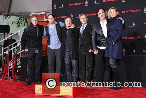 Robert Forster, Channing Tatum, Tim Roth, Christoph Waltz, Quentin Tarantino and Zoe Bell 6