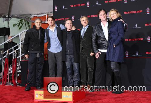 Robert Forster, Channing Tatum, Tim Roth, Christoph Waltz, Quentin Tarantino and Zoe Bell 7