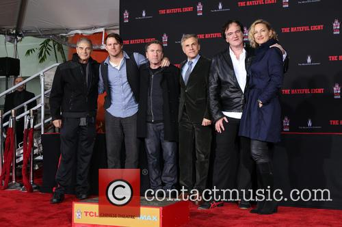 Robert Forster, Channing Tatum, Tim Roth, Christoph Waltz, Quentin Tarantino and Zoe Bell 8
