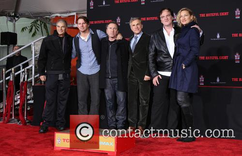 Robert Forster, Channing Tatum, Tim Roth, Christoph Waltz, Quentin Tarantino and Zoe Bell 11