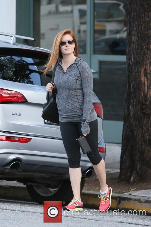 Amy Adams seen leaving a hair salon