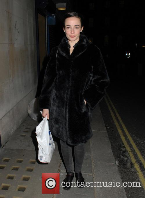 Laura Donnelly leaving the Trafalgar Studios
