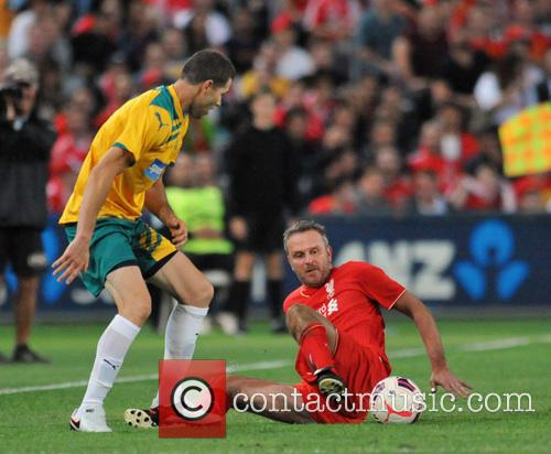 The Liverpool Legends defeat an Australian Legends team...
