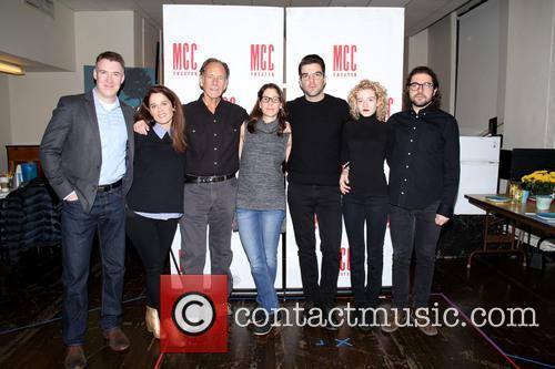 Brian Hutchison, Robin Tunney, Jon Devries, Anne Kauffman, Zachary Quinto, Julia Garner and Noah Haidle 1