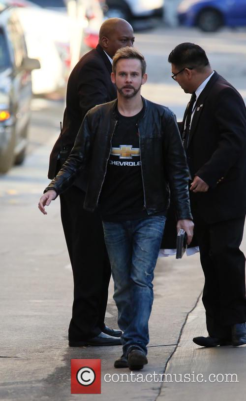 Dominic Monaghan arrives at the Jimmy Kimmel studio