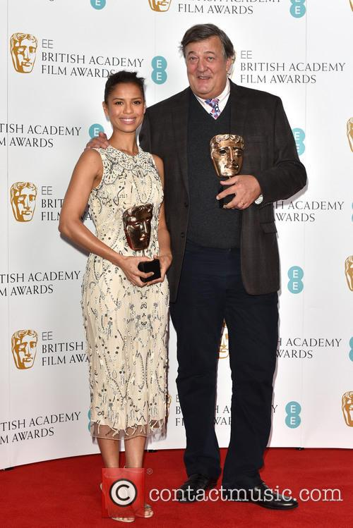 Stephen Fry and Gugu Mbatha-raw 3