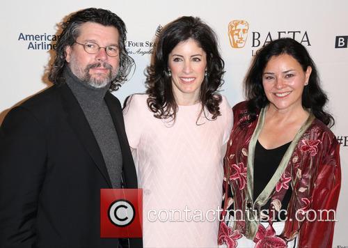 Ronald D. Moore, Maril Davis and Diana Gabaldon 2