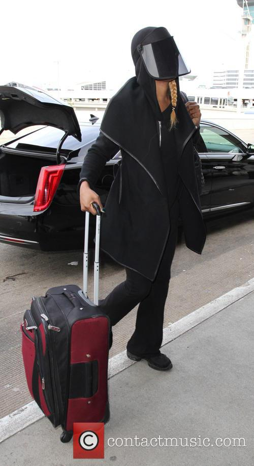 Laverne Cox departs on a flight from Los...