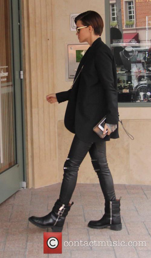Ruby Rose out and about running errands in...
