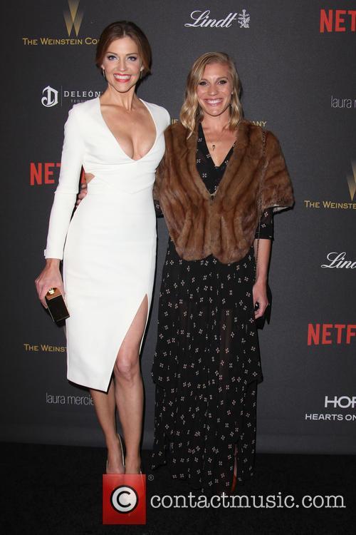 Tricia Helfer and Katee Sackhoff 9