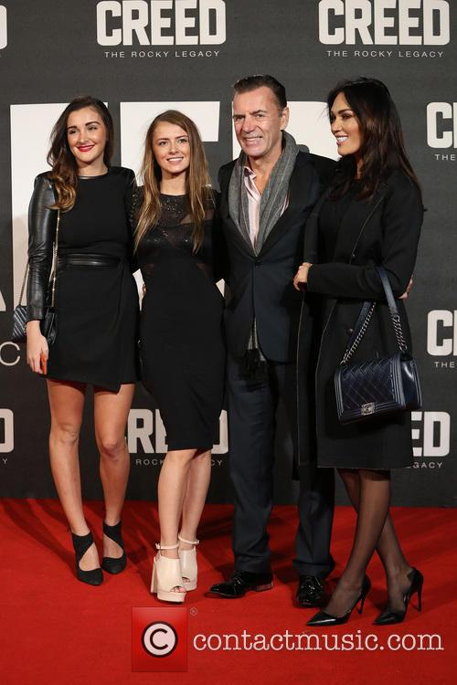 Duncan Bannatyne, Wife Nigora Whitehorn and Daughters 1