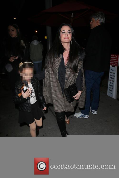 Kyle Richards and Faye Resnick seen going to...