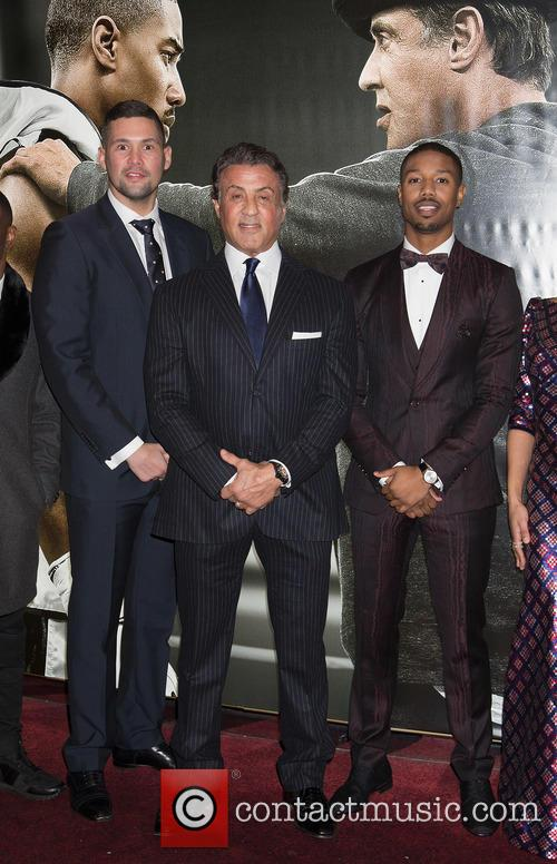Tony Bellew, Sylvester Stallone and Michael B. Jordan 1