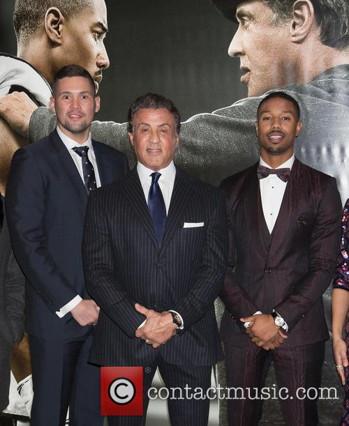 Tony Bellew, Sylvester Stallone and Michael B. Jordan 2