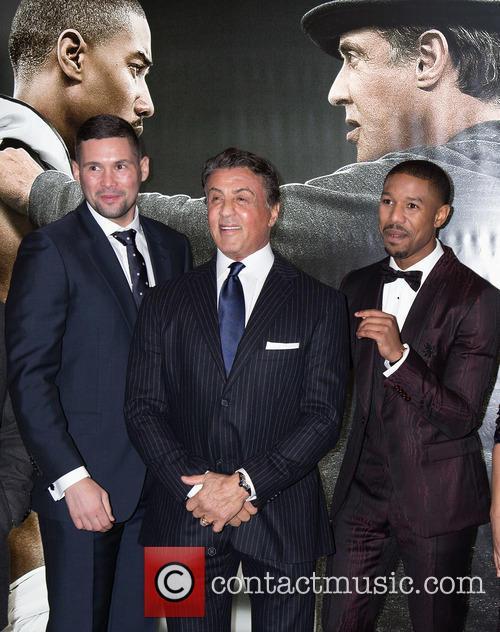 Andrew Bellew, Sylvester Stallone and Michael B. Jordan 1