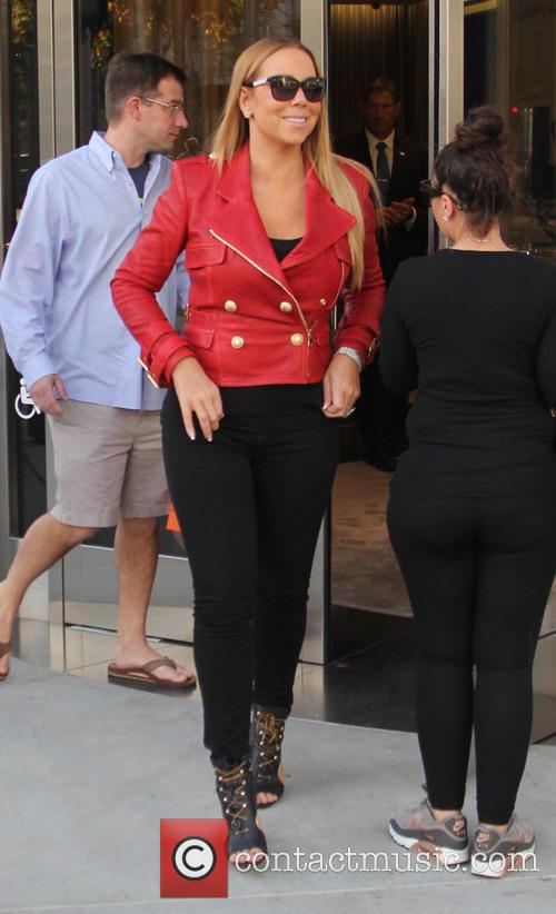 Mariah Carey goes shopping on Rodeo Drive