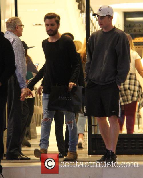 Scott Disick shopping at Barneys New York