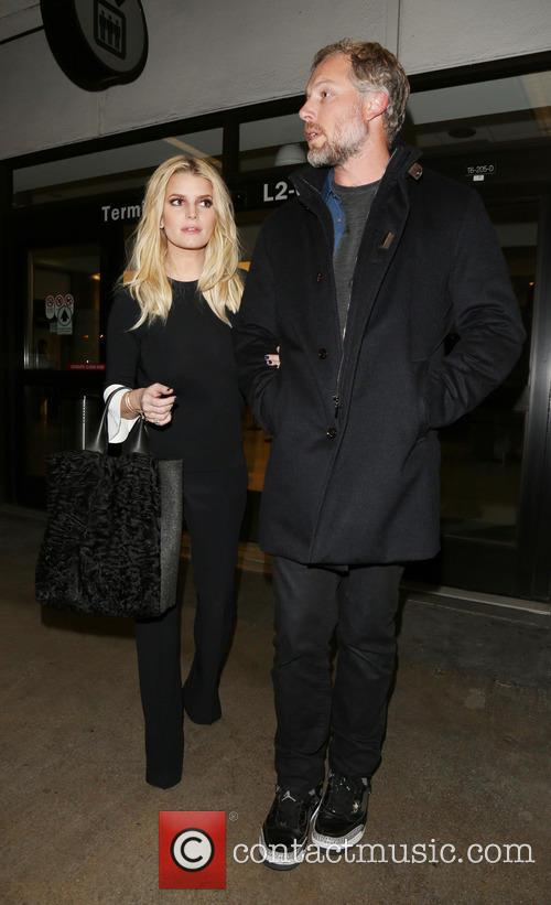 Jessica Simpson and husband Eric Johnson arrives at...