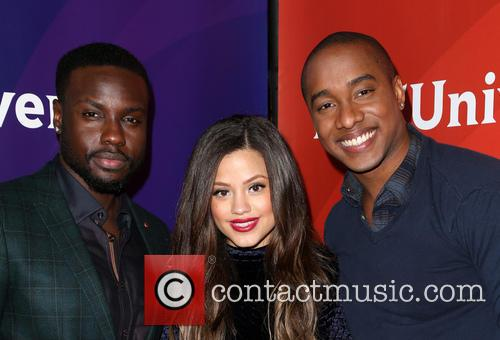 Dayo Okeniyi, Sarah Jeffery and Hampton Fluker 4