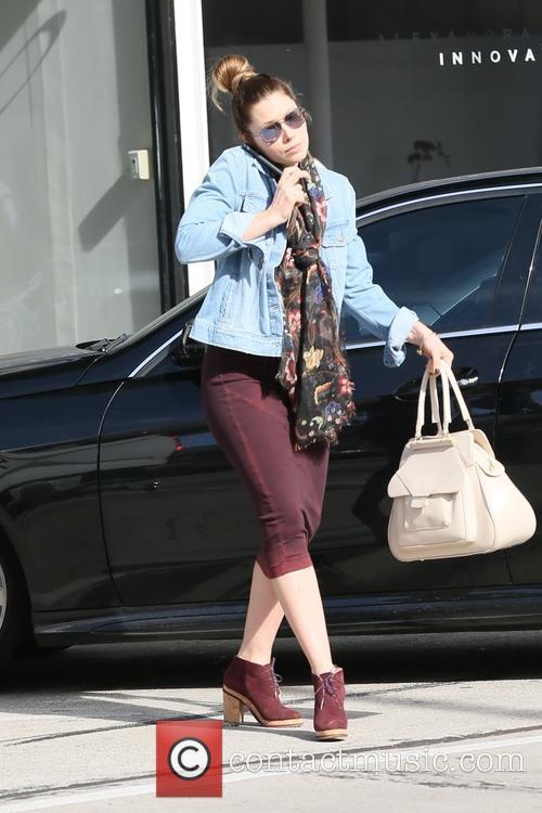 Jessica Biel arriving at Au Fudge