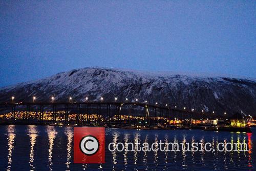 Aurora Borealis seen over the Arctic Circle