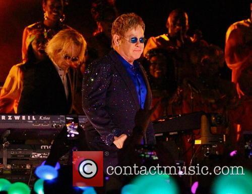 Elton John performing at Disneyland Park